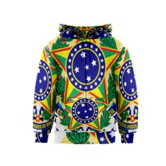 Coat of Arms of Brazil Kids  Zipper Hoodie