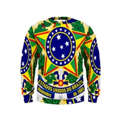 Coat of Arms of Brazil Kids  Sweatshirt