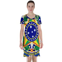 Coat of Arms of Brazil Short Sleeve Nightdress