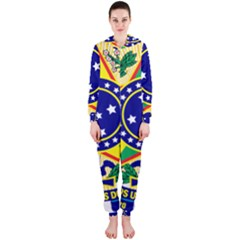 Coat of Arms of Brazil Hooded Jumpsuit (Ladies)
