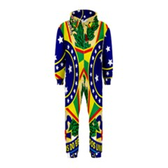 Coat of Arms of Brazil Hooded Jumpsuit (Kids)