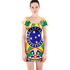 Coat of Arms of Brazil Short Sleeve Bodycon Dress
