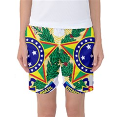 Coat of Arms of Brazil Women s Basketball Shorts