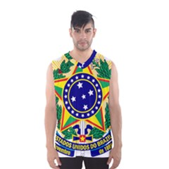 Coat of Arms of Brazil Men s Basketball Tank Top