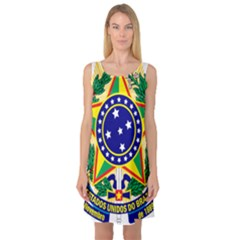 Coat of Arms of Brazil Sleeveless Satin Nightdress