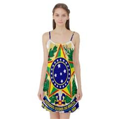 Coat of Arms of Brazil Satin Night Slip
