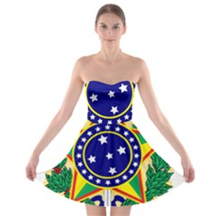 Coat of Arms of Brazil Strapless Bra Top Dress