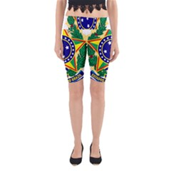 Coat of Arms of Brazil Yoga Cropped Leggings