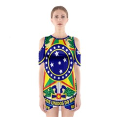 Coat of Arms of Brazil Cutout Shoulder Dress