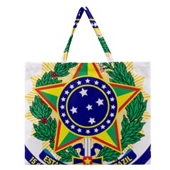 Coat of Arms of Brazil Zipper Large Tote Bag