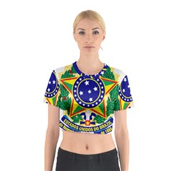 Coat of Arms of Brazil Cotton Crop Top
