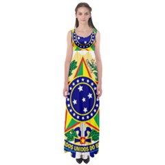 Coat of Arms of Brazil Empire Waist Maxi Dress