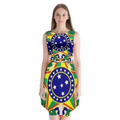 Coat of Arms of Brazil Sleeveless Chiffon Dress