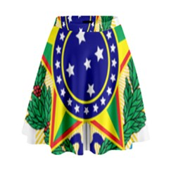 Coat of Arms of Brazil High Waist Skirt