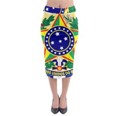 Coat of Arms of Brazil Midi Pencil Skirt