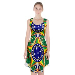 Coat of Arms of Brazil Racerback Midi Dress