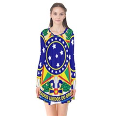 Coat of Arms of Brazil Flare Dress