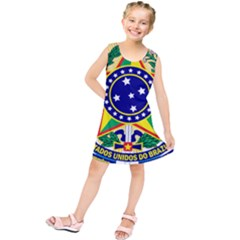 Coat of Arms of Brazil Kids  Tunic Dress