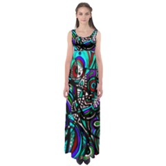Teal Time  by WBK:  Empire Waist Maxi Dress