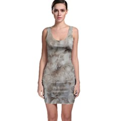 Down Comforter Feathers Goose Duck Feather Photography Sleeveless Bodycon Dress