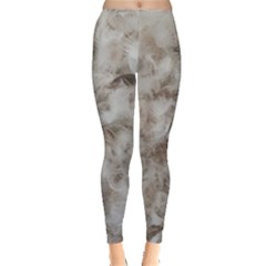 Down Comforter Feathers Goose Duck Feather Photography Leggings