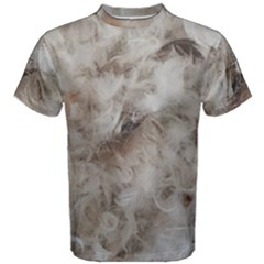 Down Comforter Feathers Goose Duck Feather Photography Men s Cotton Tee