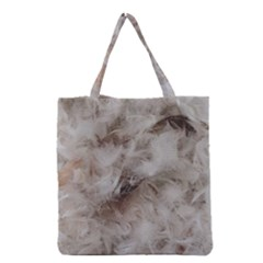 Down Comforter Feathers Goose Duck Feather Photography Grocery Tote Bag