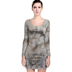 Down Comforter Feathers Goose Duck Feather Photography Long Sleeve Bodycon Dress