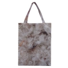 Down Comforter Feathers Goose Duck Feather Photography Classic Tote Bag