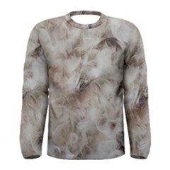 Down Comforter Feathers Goose Duck Feather Photography Men s Long Sleeve Tee