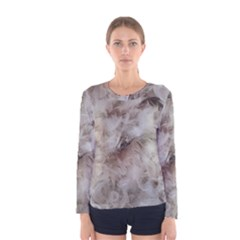 Down Comforter Feathers Goose Duck Feather Photography Women s Long Sleeve Tee