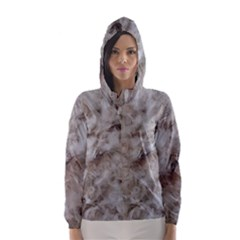 Down Comforter Feathers Goose Duck Feather Photography Hooded Wind Breaker (Women)