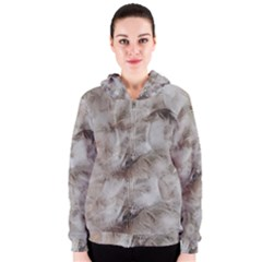 Down Comforter Feathers Goose Duck Feather Photography Women s Zipper Hoodie