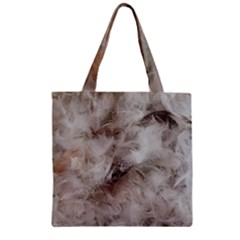 Down Comforter Feathers Goose Duck Feather Photography Zipper Grocery Tote Bag