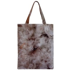Down Comforter Feathers Goose Duck Feather Photography Zipper Classic Tote Bag