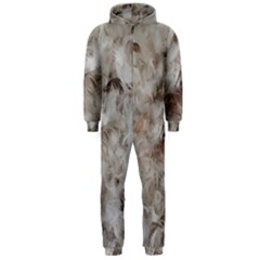 Down Comforter Feathers Goose Duck Feather Photography Hooded Jumpsuit (Men)
