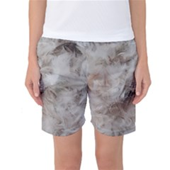 Down Comforter Feathers Goose Duck Feather Photography Women s Basketball Shorts