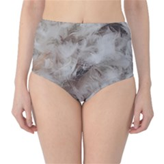 Down Comforter Feathers Goose Duck Feather Photography High-Waist Bikini Bottoms