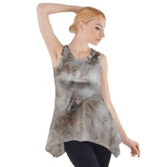 Down Comforter Feathers Goose Duck Feather Photography Side Drop Tank Tunic