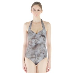 Down Comforter Feathers Goose Duck Feather Photography Halter Swimsuit