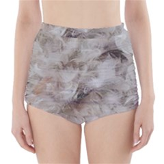Down Comforter Feathers Goose Duck Feather Photography High-Waisted Bikini Bottoms