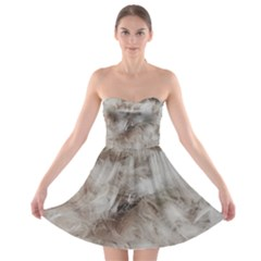 Down Comforter Feathers Goose Duck Feather Photography Strapless Bra Top Dress