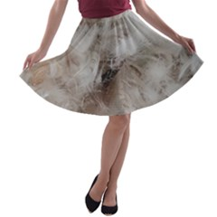 Down Comforter Feathers Goose Duck Feather Photography A-line Skater Skirt