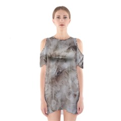 Down Comforter Feathers Goose Duck Feather Photography Cutout Shoulder Dress