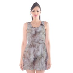 Down Comforter Feathers Goose Duck Feather Photography Scoop Neck Skater Dress