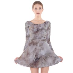 Down Comforter Feathers Goose Duck Feather Photography Long Sleeve Velvet Skater Dress