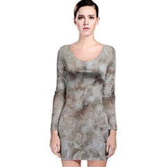 Down Comforter Feathers Goose Duck Feather Photography Long Sleeve Velvet Bodycon Dress