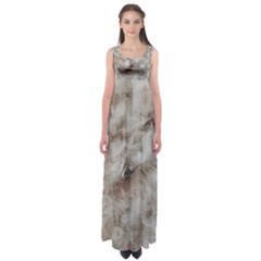 Down Comforter Feathers Goose Duck Feather Photography Empire Waist Maxi Dress
