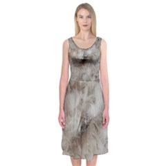 Down Comforter Feathers Goose Duck Feather Photography Midi Sleeveless Dress