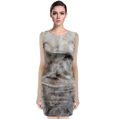 Down Comforter Feathers Goose Duck Feather Photography Classic Sleeveless Midi Dress